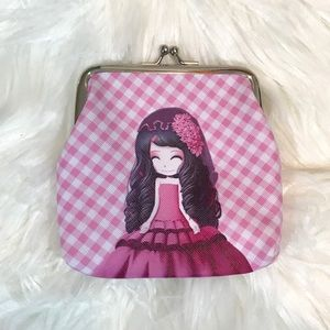 Pink Anime Girl Wallet/Coin Purse